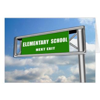 École primaire d'obtention du diplôme d'ExitSign Carte De Vœux