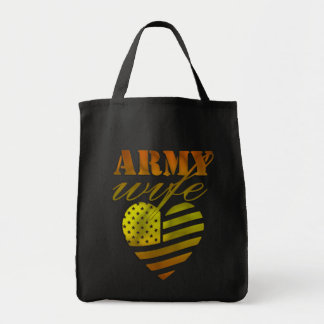"""Ecological bag """"ARMY Wife """""""