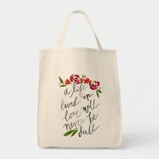 """Ecological bag """"Life, lived… """""""
