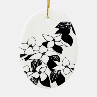 ecological floral flowers leaf ceramic ornament