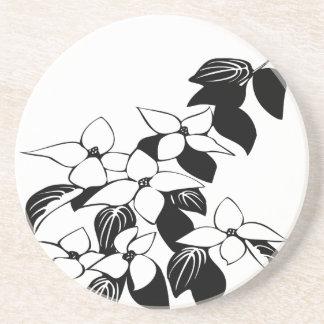 ecological floral flowers leaf coaster