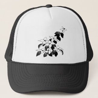ecological floral flowers leaf trucker hat