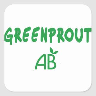 Ecological Greenprout Square Sticker