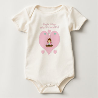 "Ecological Mameluco ""Cathy and the Cat"" Beautiful Baby Bodysuit"