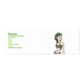 Ecological Superhero Business Cards