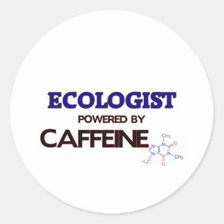 Ecologist Powered by caffeine Round Sticker