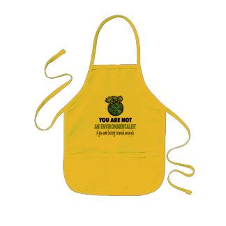 Écologiste = végétalien, végétarien tablier enfant