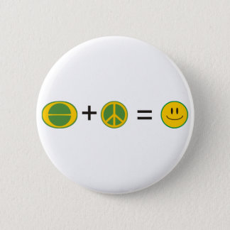 Ecology Peace Happiness 2 Inch Round Button