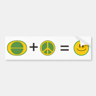 Ecology Peace Happiness Bumper Sticker