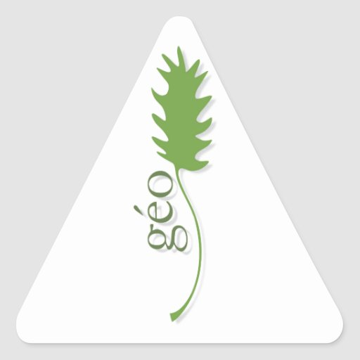 ecology triangle stickers