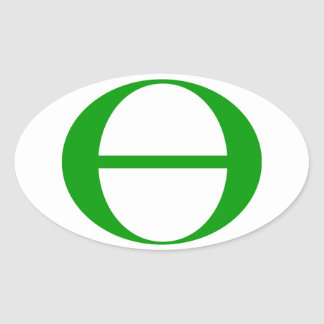 Ecology Symbol Oval Sticker