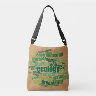 Ecology Tag Cloud Vintage Bag