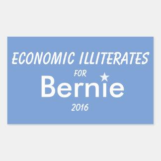 Economic Illiterates for Bernie Rectangle Sticker