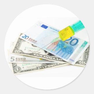 Economic Injection Round Sticker
