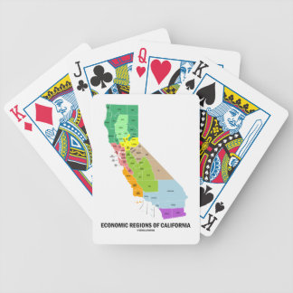 Economic Regions Of California (Map) Poker Cards