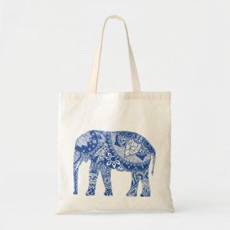 Economic stock market with elephant tote bag