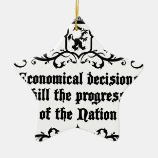 Economical Decisions Kill The Progress Medieval Ceramic Ornament
