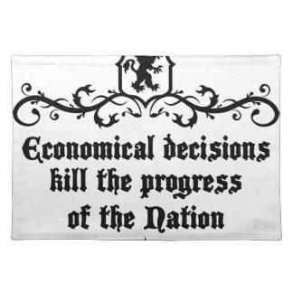 Economical Decisions Kill The Progress Medieval Placemat