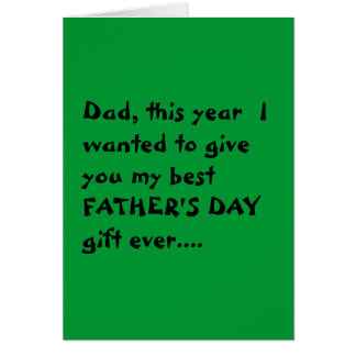 """""""Economical"""" Father's Day card"""