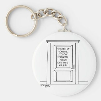 Economics Cartoon 3781 Keychain
