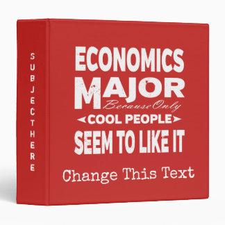 Economics College Major Only Cool People Like It Binders
