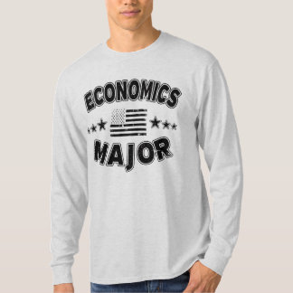 Economics College Major Patriotic American Flag T-Shirt