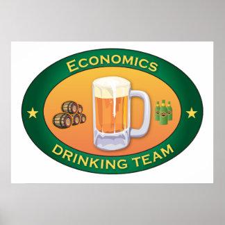 Economics Drinking Team Poster