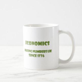Economics: making numbers lie since 1776 coffee mug