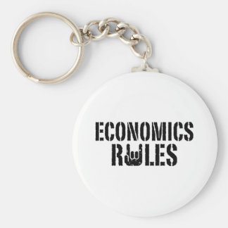 Economics Rules Basic Round Button Keychain