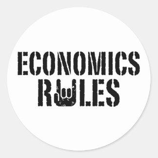Economics Rules Classic Round Sticker
