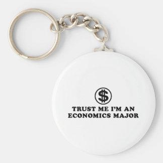 Economics Student Basic Round Button Keychain