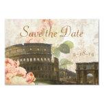 Économies antiques de cru de rose de rose de Rome Carton D'invitation 8,89 Cm X 12,70 Cm
