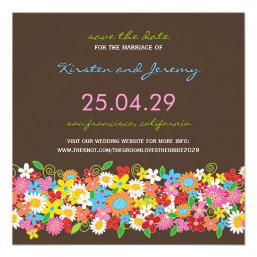 Économies colorées de photo de jardin de fleurs de invitations