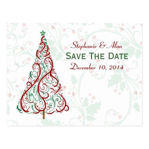 Économies d'arbre de Noël la carte postale de date