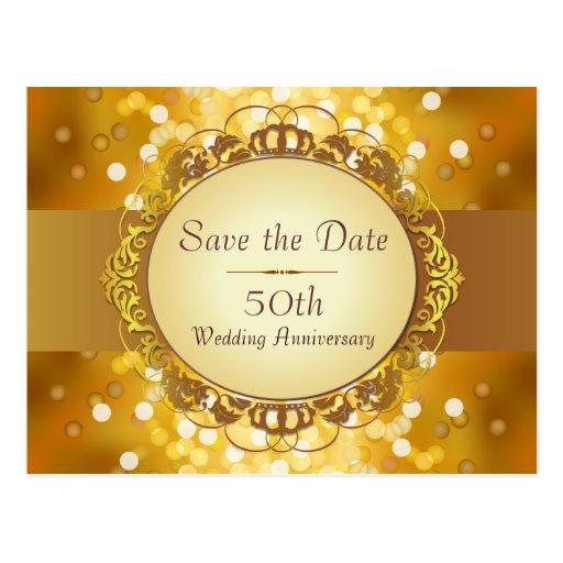 Économies de Bokeh d'or l'anniversaire de date cin Cartes Postales