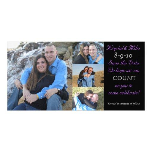 Économies de collage de photo la date photocarte