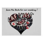 Économies de Las Vegas le coeur de date Bristols Personnalisés