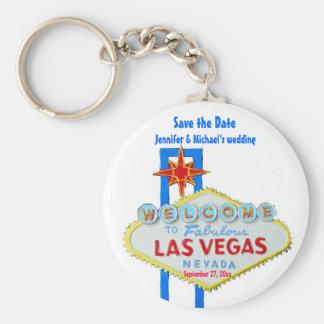 Économies de Las Vegas l'occasion customisée par Porte-clé Rond