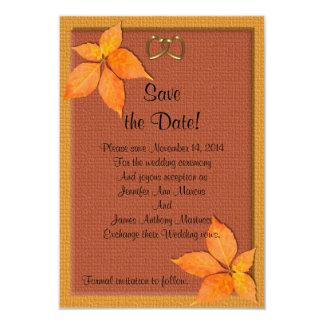Économies de mariage d'automne de chute la carte carton d'invitation 8,89 cm x 12,70 cm
