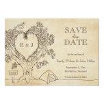 Économies de mariage de camping les annonces de carton d'invitation  12,7 cm x 17,78 cm