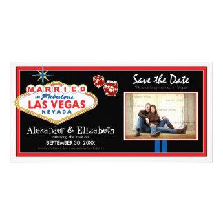 Économies de mariage de destination de Vegas la Cartes De Vœux Avec Photo