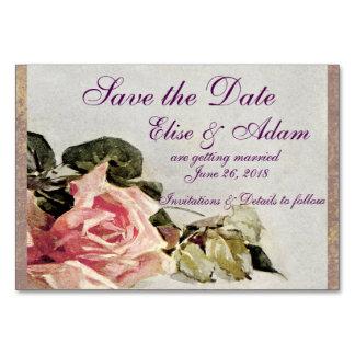 Économies de rose de rose la carte de date