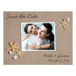 Économies de thème de plage les cartes photos de d invitation personnalisée