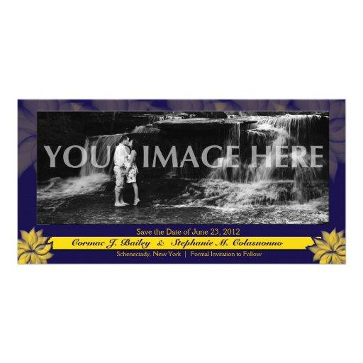 Économies décorées d'un monogramme de fleur la dat modèle pour photocarte