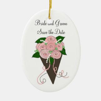 Économies élégantes de bouquet de mariage la date ornements