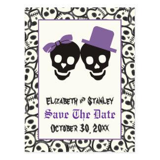 Économies élégantes de mariage de Halloween de Cartes Postales