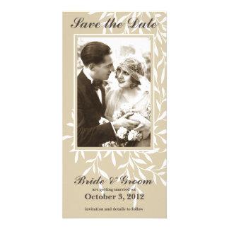 Économies élégantes simples le carte photo de date cartes de vœux avec photo