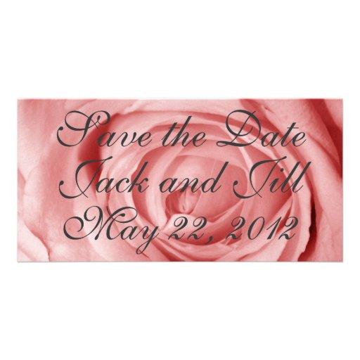 Économies rosâtres la date cartes de vœux avec photo