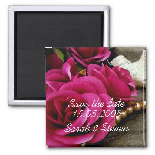 Économies roses de dentelle de perles élégantes de aimants