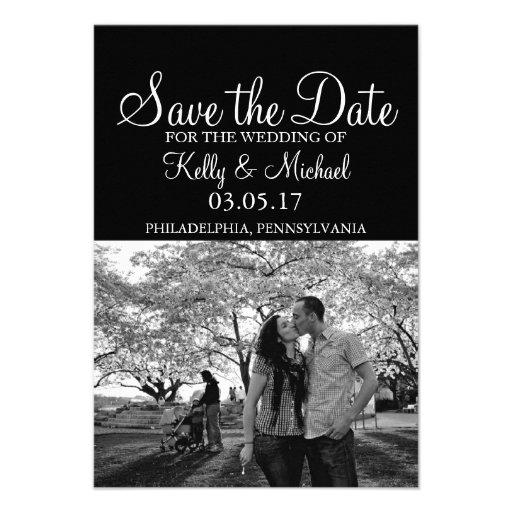 Économies simples de photo la date invitations personnalisées